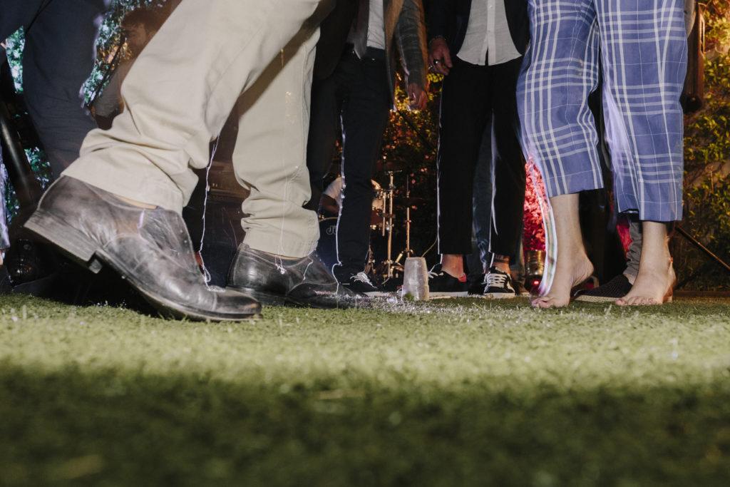 Party di matrimonio vista scarpe