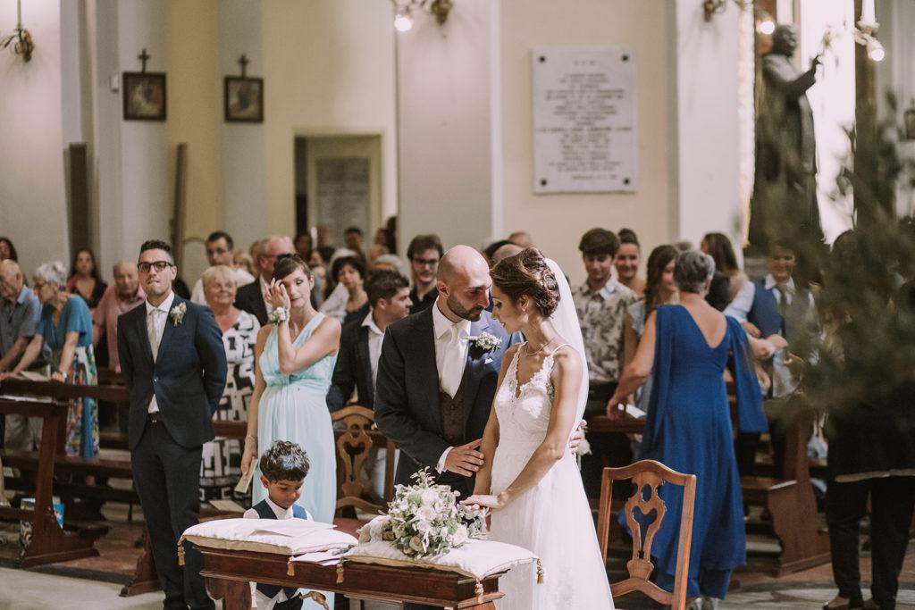 Sposi all'altare chiesa del duomo