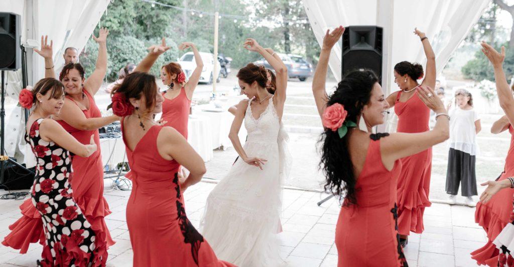 Sposa ballerina di flamenco